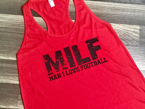 M.I.L.F Man I Love Football - Paisley Bows