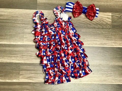 Fourth of July Romper - Paisley Bows