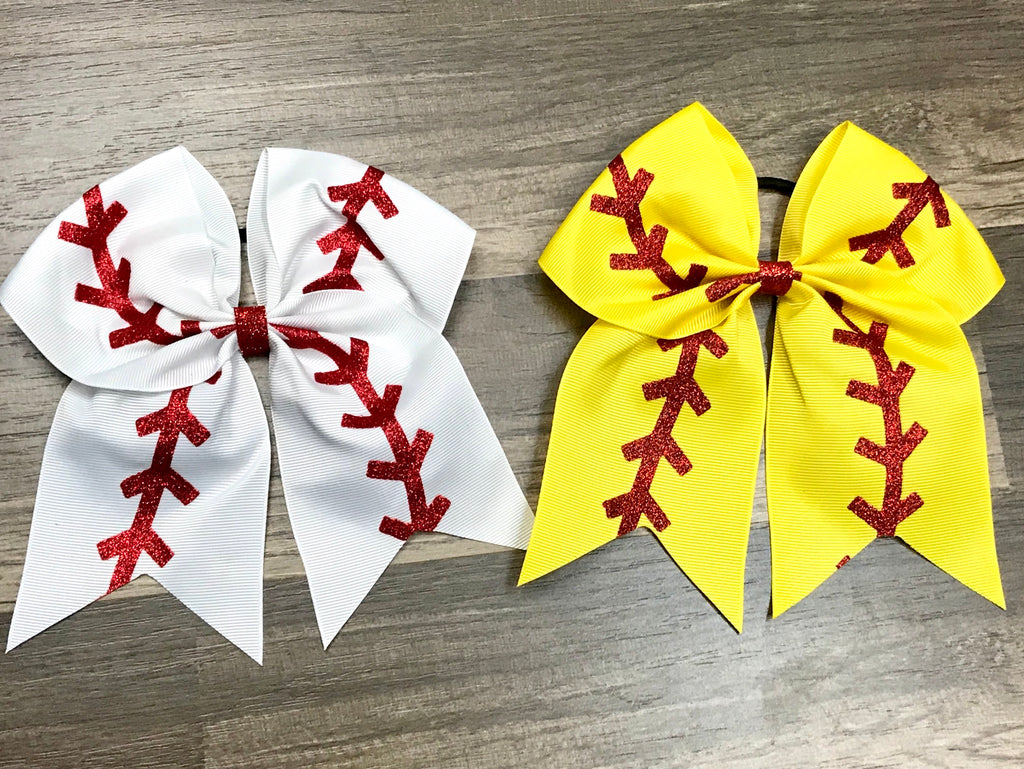 Baseball or Softball Cheer Bow - Paisley Bows