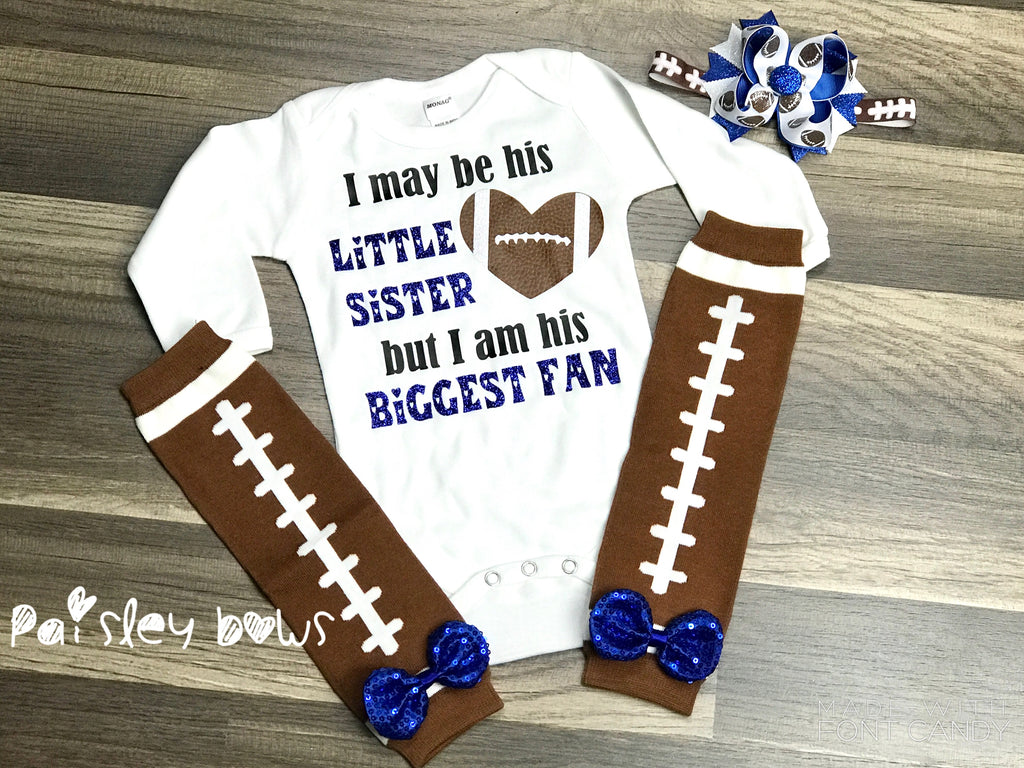 Customizable Football Sister Shirt or Outfit - Paisley Bows
