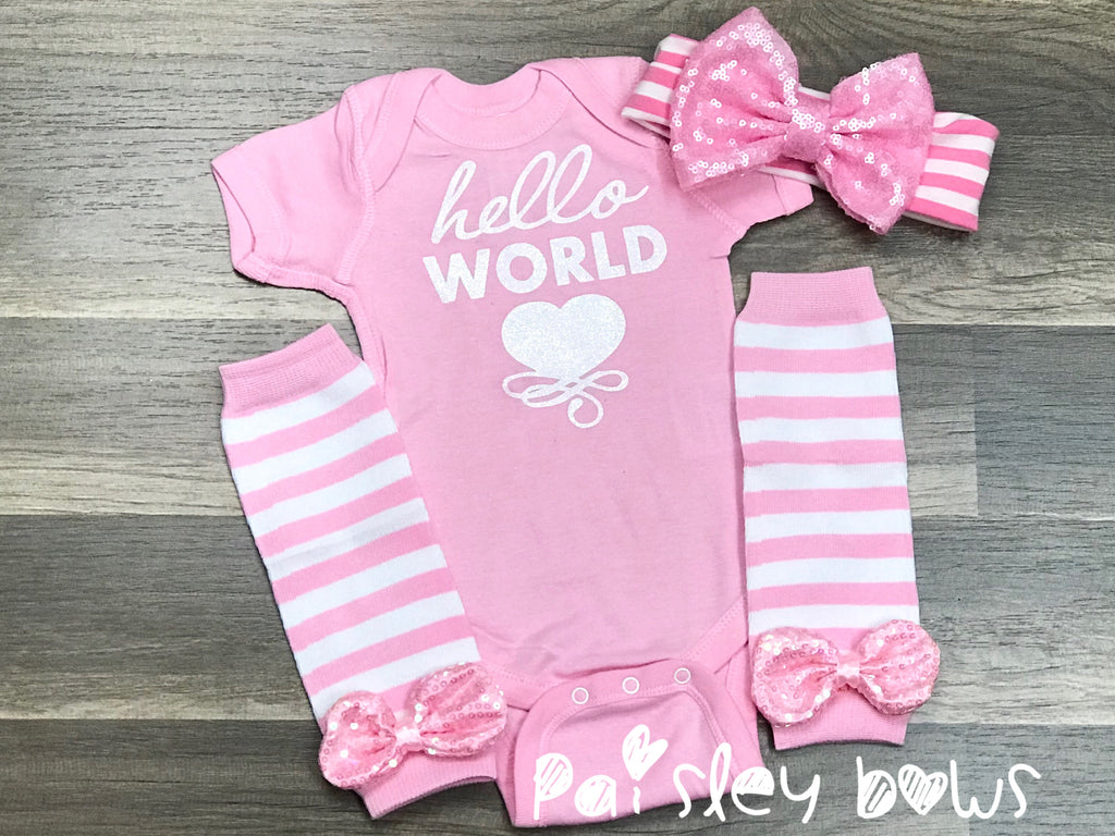 Hello World - Paisley Bows