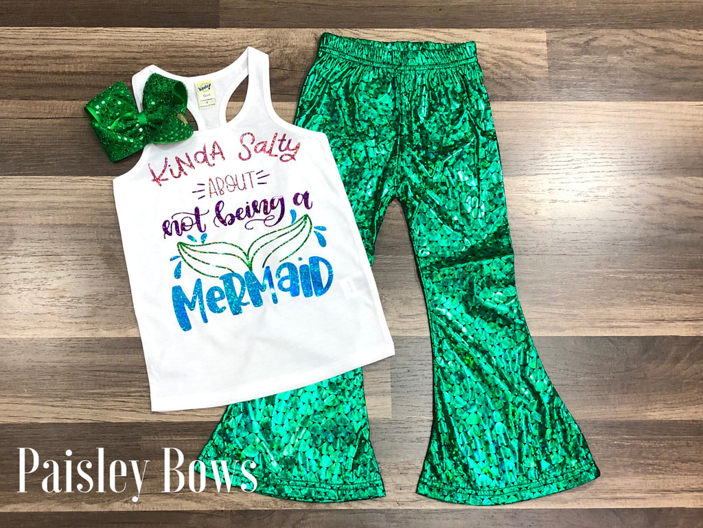 Salty About Not Being A Mermaid - Paisley Bows
