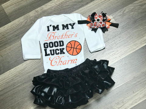 I'm My Brothers Good Luck Charm 3pc Set through 4t - Paisley Bows