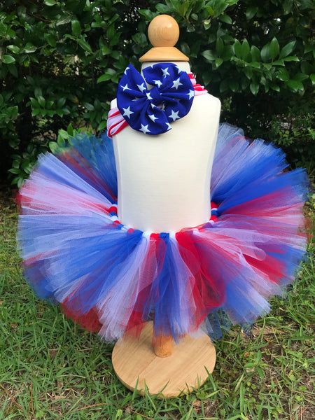 Red, White And Blue Tutu - Paisley Bows