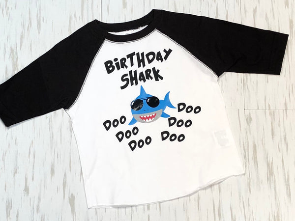 Birthday Shark Doo Doo Doo - Paisley Bows