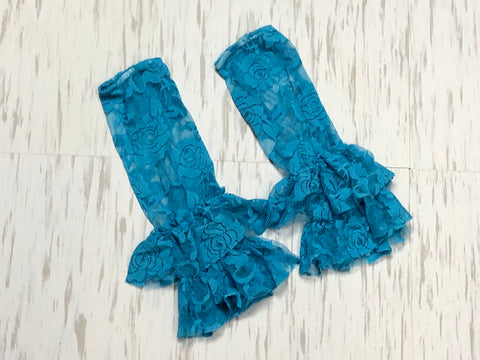 Lace leg warmers - Paisley Bows