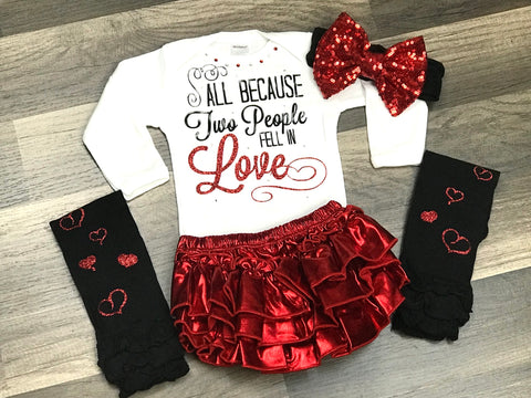 All Because Two People Fell In Love 4pc Outfit - Paisley Bows