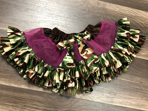 Pink and Camo Petti-Skirt - Paisley Bows