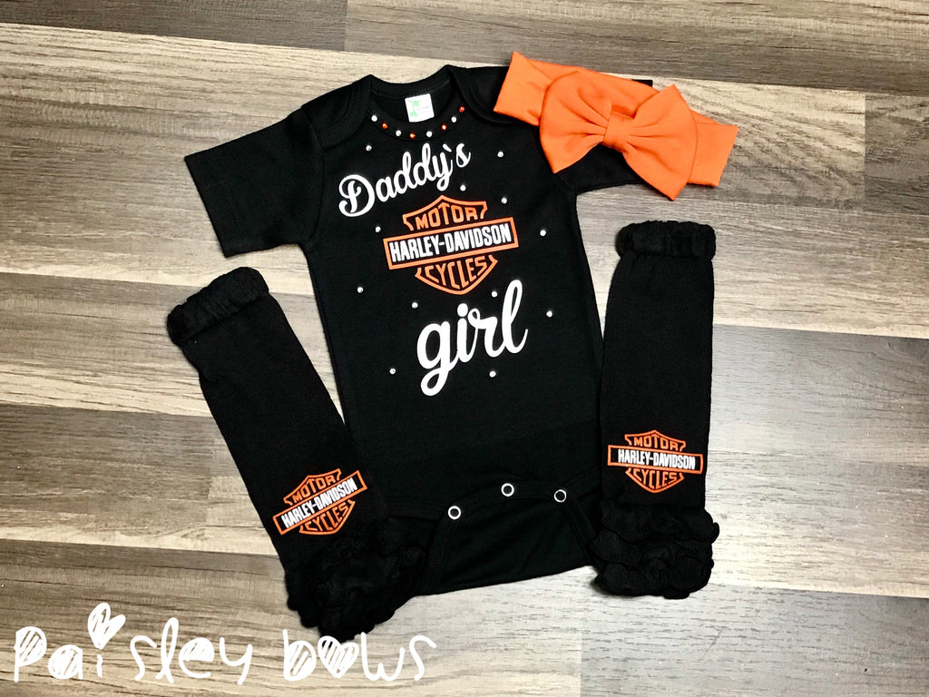 Daddy's Biker Girl - Paisley Bows