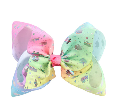 "8"" Unicorn Hair Bow - Paisley Bows"