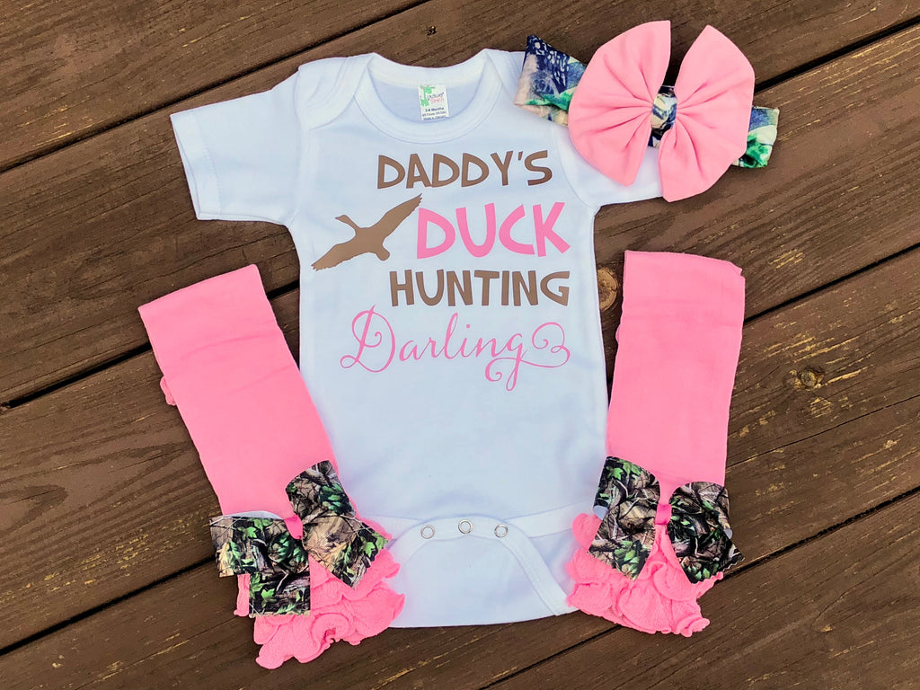 Daddy's Duck Hunting Darling - Paisley Bows