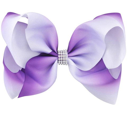 Purple Ombré Hair Bow