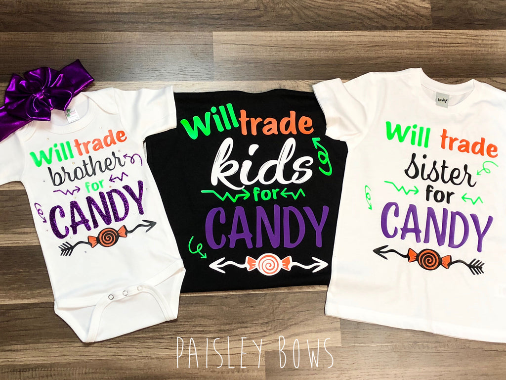 Will Trade Kids For Candy - Paisley Bows