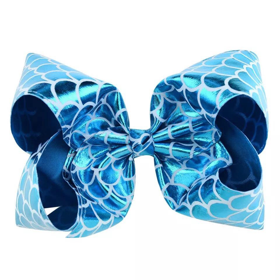 Turquoise Mermaid Hair Bow - Paisley Bows