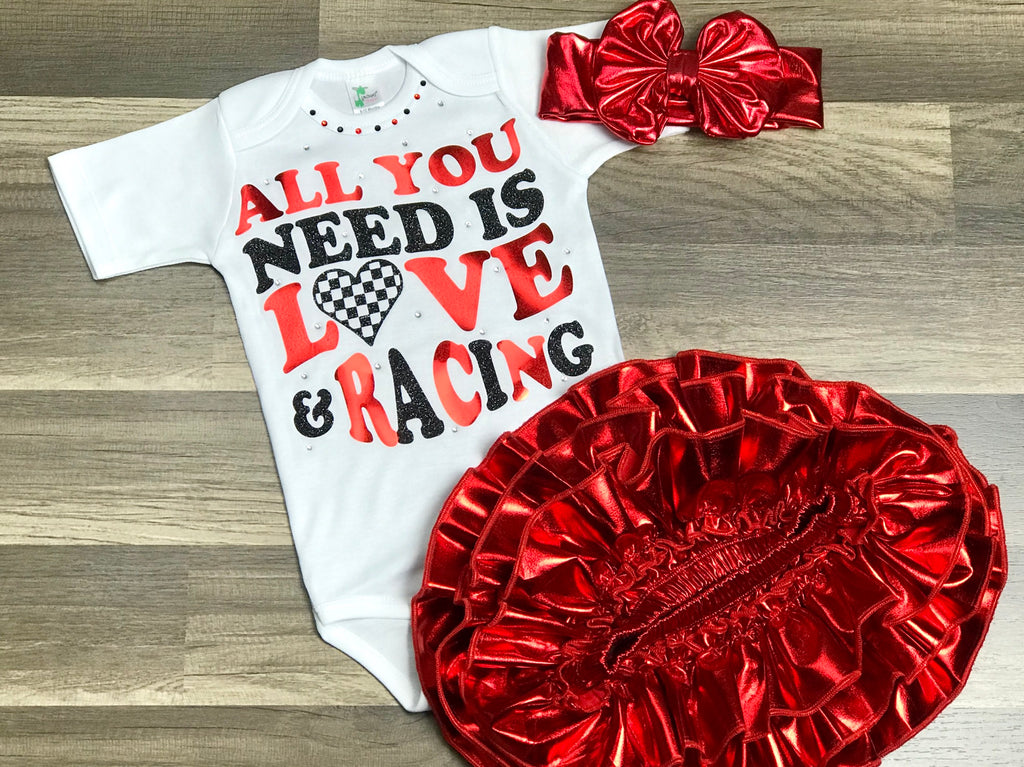 All You Need Is Love And Racing 3pc set - Paisley Bows