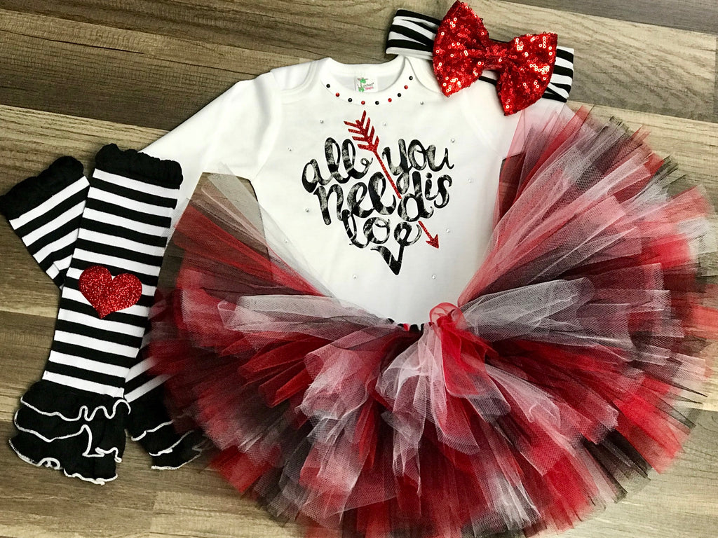 Red and Black All you need is love - Paisley Bows
