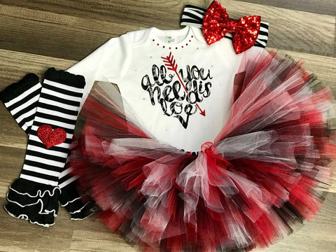 All You Need Is Love Tutu Outfit - Paisley Bows