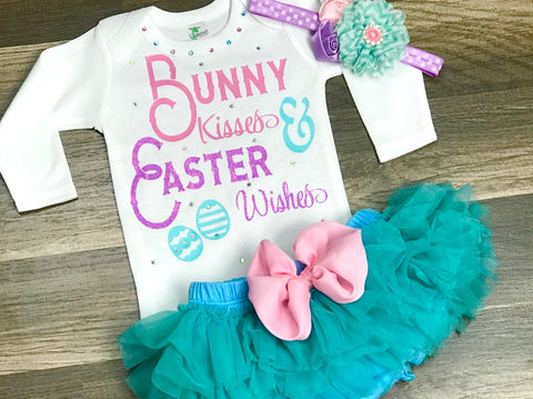 Bunny Kisses and Easter Wishes - Paisley Bows
