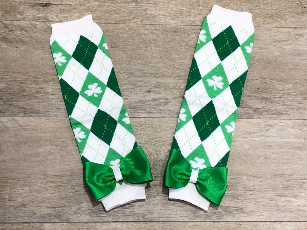 St. Patrick's Day Leg Warmers - Paisley Bows