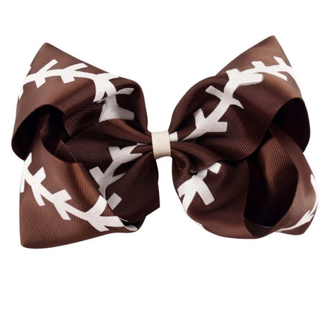 Glitter Football Bow - Paisley Bows