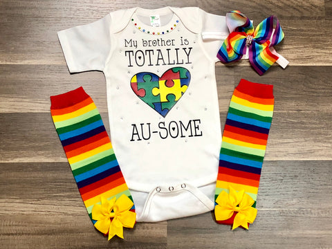 Customizable Autism Outfit - Paisley Bows