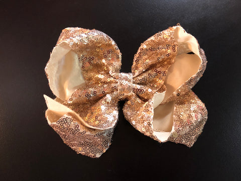 Gold Sequin Hair Bow - Paisley Bows