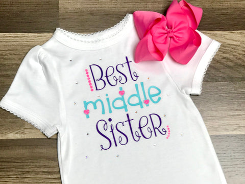 Best Middle Sister - Paisley Bows