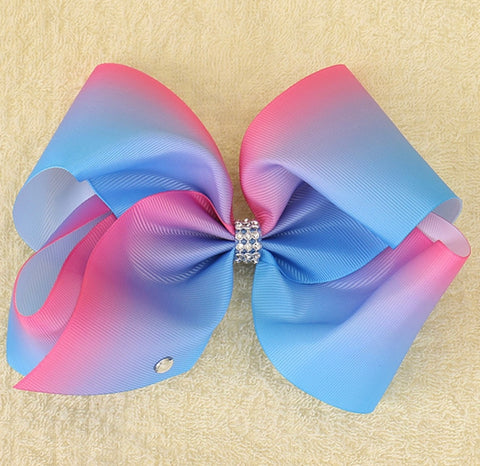 Pink And Blue Ombré Bow