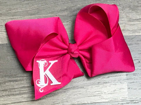 Hot Pink Custom Inital Hair Bow - Paisley Bows