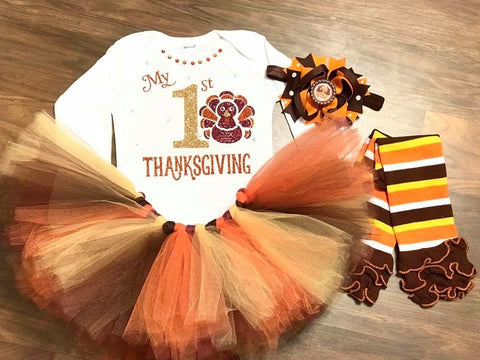 My 1st Thanksgiving - Paisley Bows