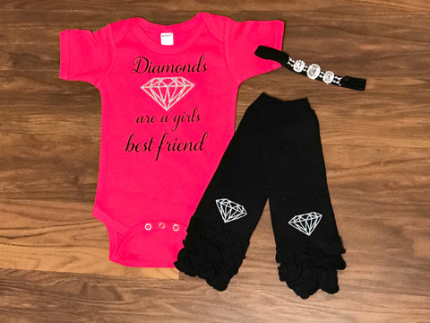 Diamonds Are A Girls Best Friend - Paisley Bows