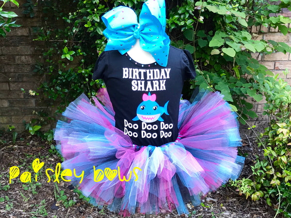Birthday Shark - Paisley Bows