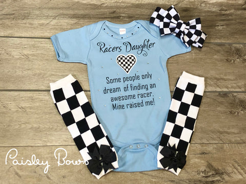 Racers Daughter - Paisley Bows