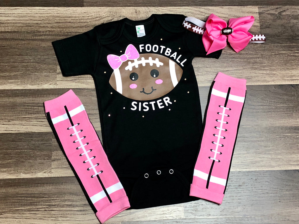 Football Sister - Paisley Bows