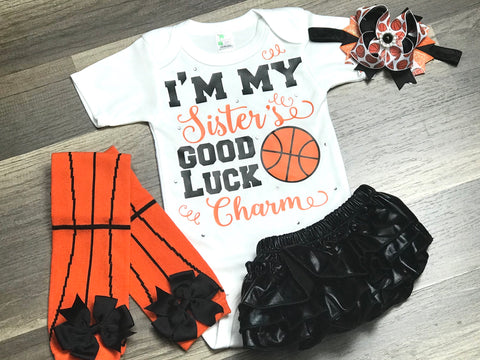I'm My Sisters Good Luck Charm 4pc set - Paisley Bows