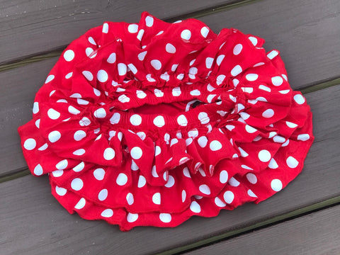 Red Polka Dot Skirted Bloomers - Paisley Bows