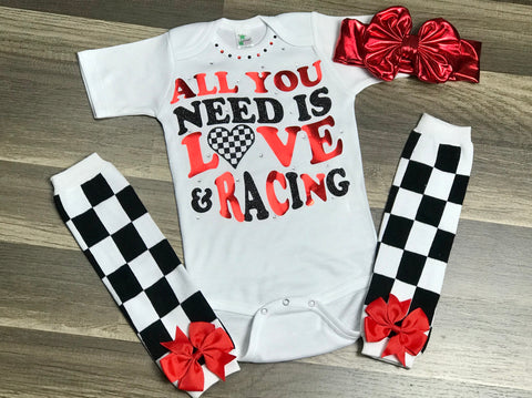 Love And Racing - Paisley Bows