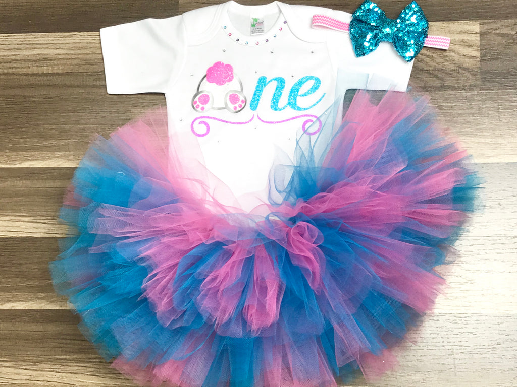 Bunny First Birthday Outfit - Paisley Bows
