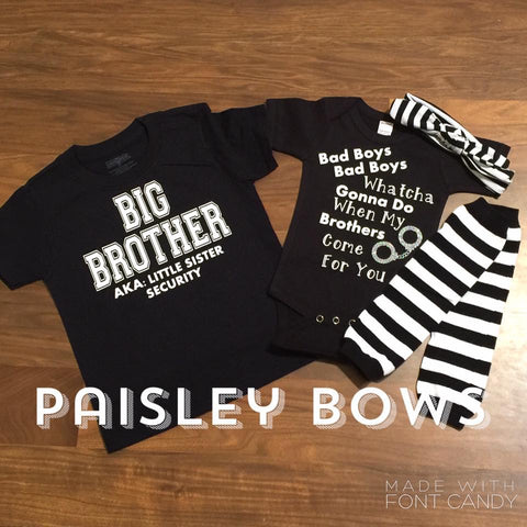 Bad Boys Sibling Outfits - Paisley Bows