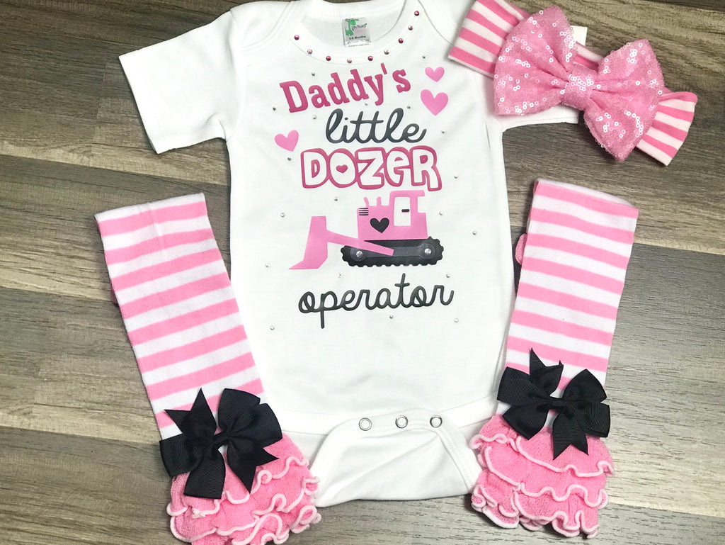 Daddy's Little Dozer - Paisley Bows