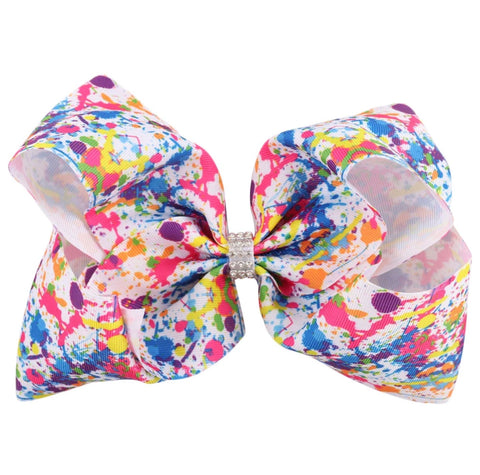 Neon Splash Hair Bow - Paisley Bows