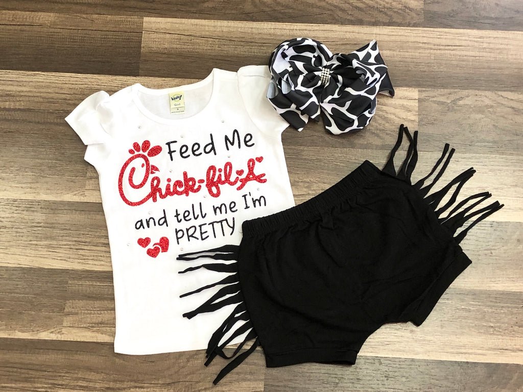Feed Me Chick-fil-a And Tell Me I'm Pretty - Paisley Bows