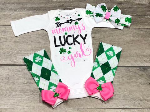 Mommy's Lucky Girl - Paisley Bows