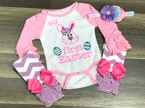 My First Easter 3pc Set - Paisley Bows