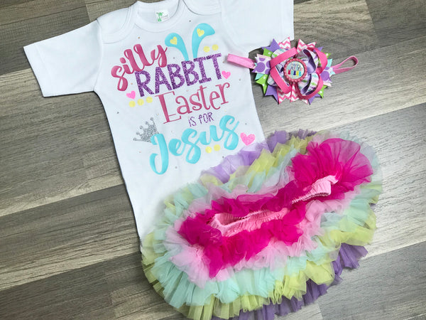 Silly Rabbit Easter Is For Jesus - Paisley Bows