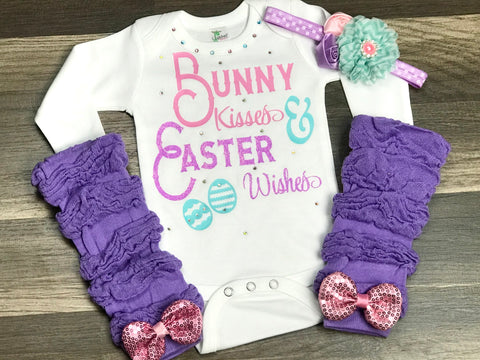 Bunny Kisses & Easter Wishes - Paisley Bows