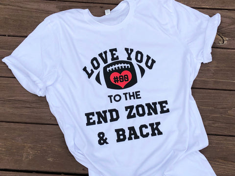 Love You To The End Zone And Back - Paisley Bows