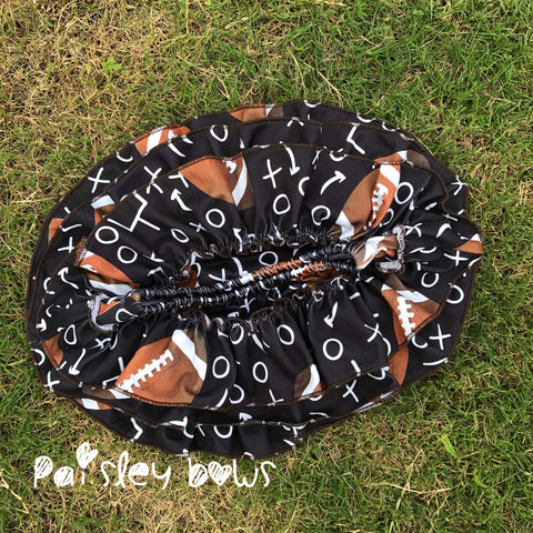 Football Skirted Bloomers - Paisley Bows