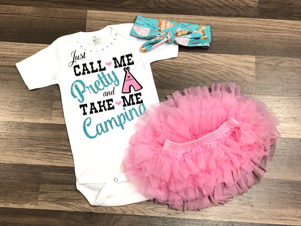 Just Call Me Pretty And Take Me Camping - Paisley Bows