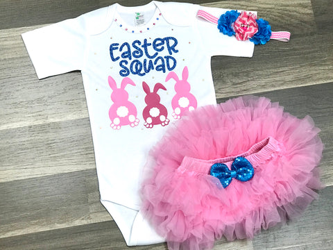 Easter Squad Skirted Bloomer Outfit - Paisley Bows